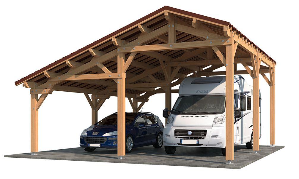 L Abri Camping Car Oxalis Apportera De Maniere Certaine Une Touche D Originalite A Votre Jardin Ce Carport En Kit Est Re Carport Sheds Carport Carport Designs