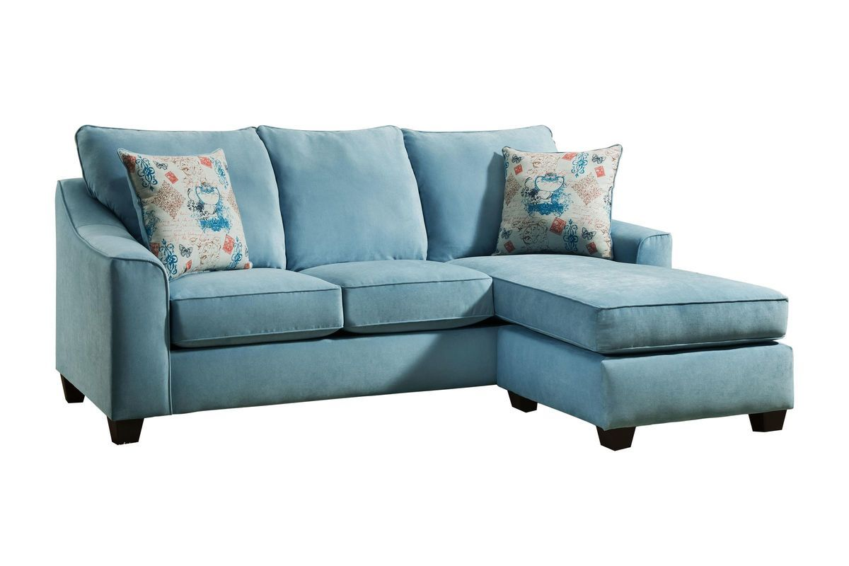 Elizabeth Sofa in Spa Teal with Moveable Chaise Chaise