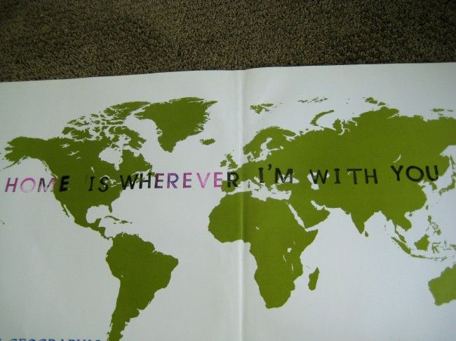 Home is Wherever I'm With You...wonder if I can put that somewhere and frame it? Or wall sticker?