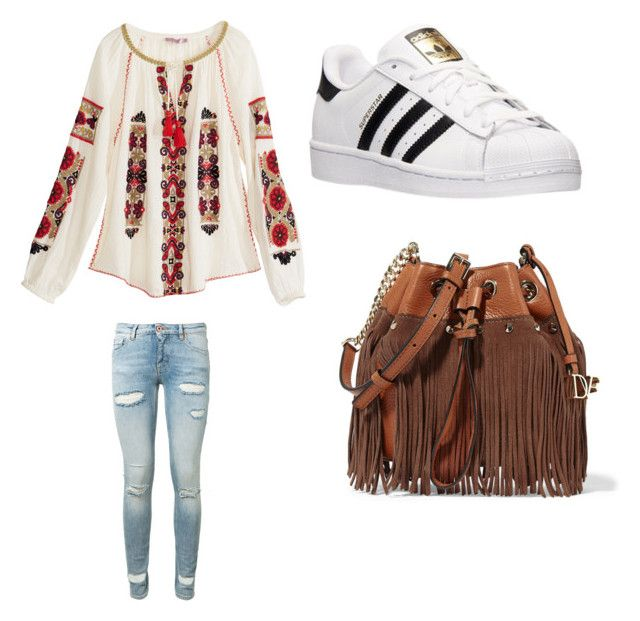 """Untitled #311"" by jamiesowers14 on Polyvore featuring Calypso St. Barth, Off-White, adidas and Diane Von Furstenberg"