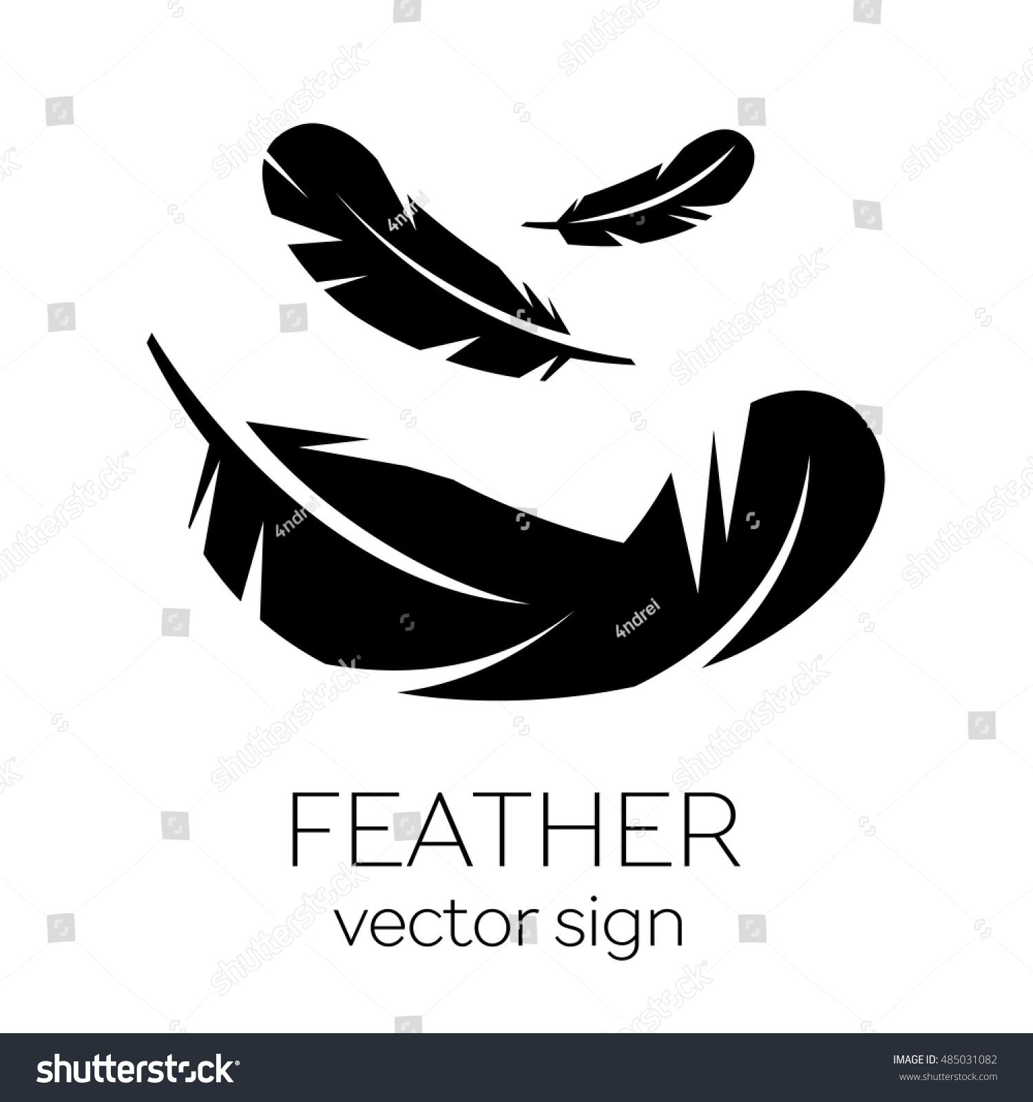 Simple Feather Silhouette Silhouette Clip Art Silhouette Png Silhouette
