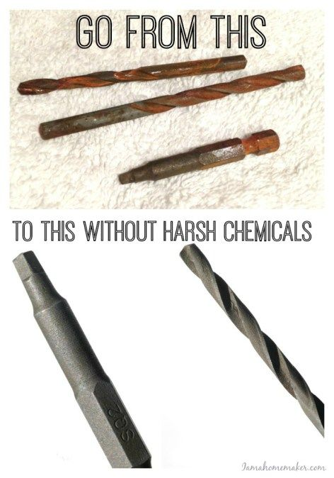 how to remove rust from tools woodworking shop tools tools cleaning rusty tools how to. Black Bedroom Furniture Sets. Home Design Ideas