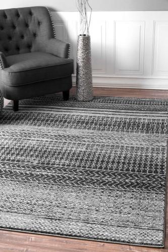 Mandala Dark Grey Area Rug Size 8 X 10 Rugs In Living Room