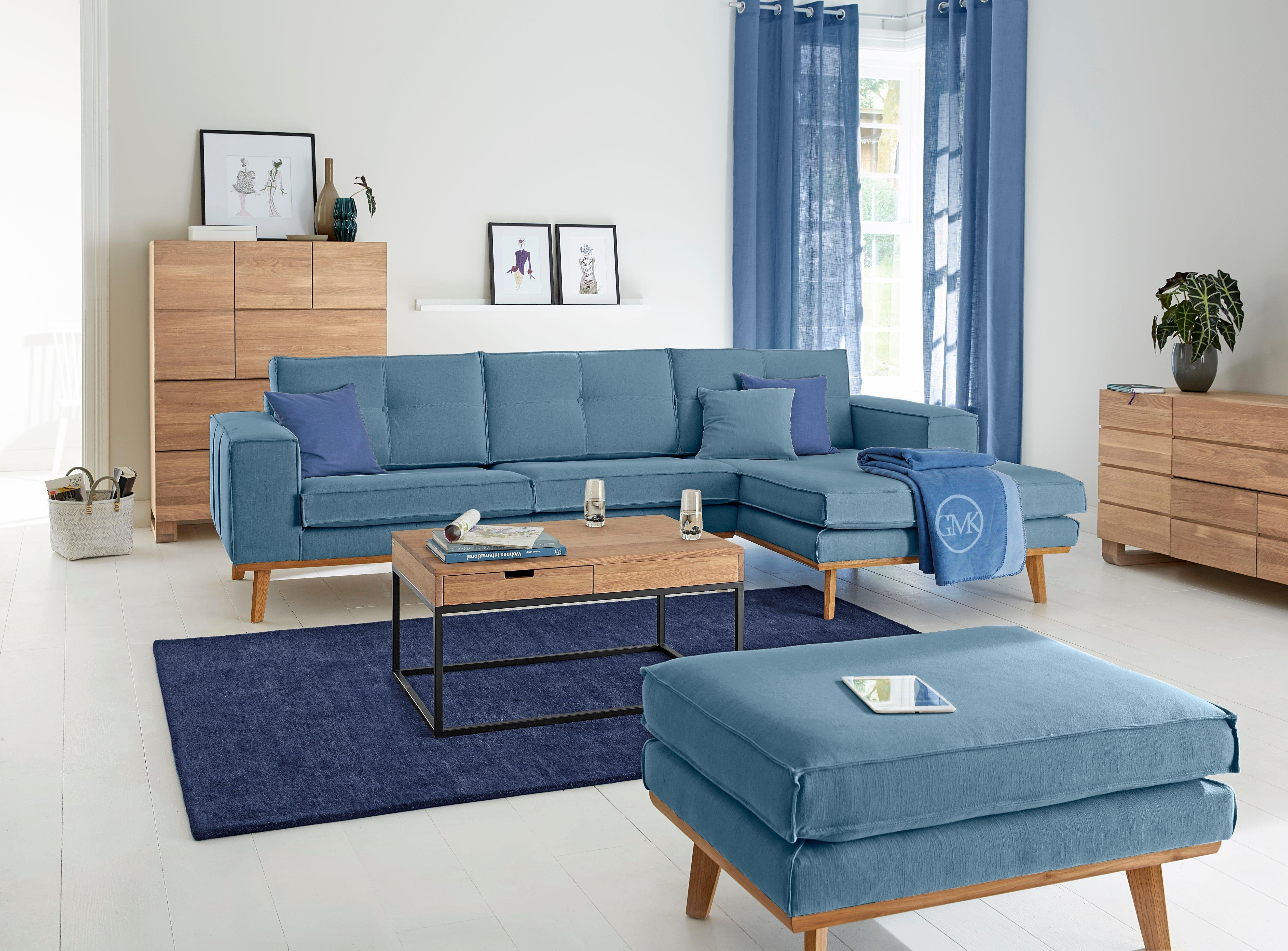 Sofa Dreams Stoff Couch MONZA L Form mit LED Beleuchtung Jetzt
