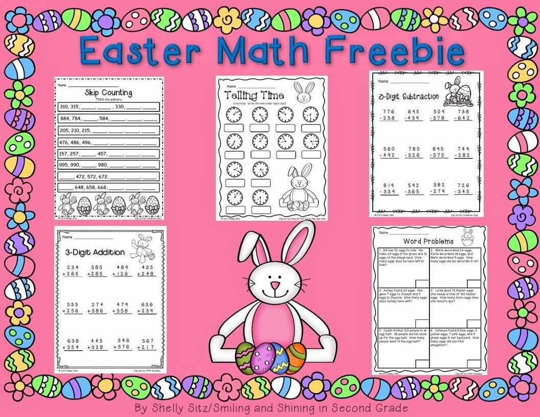 Easter Math Freebie Telling Time Skip Counting Word