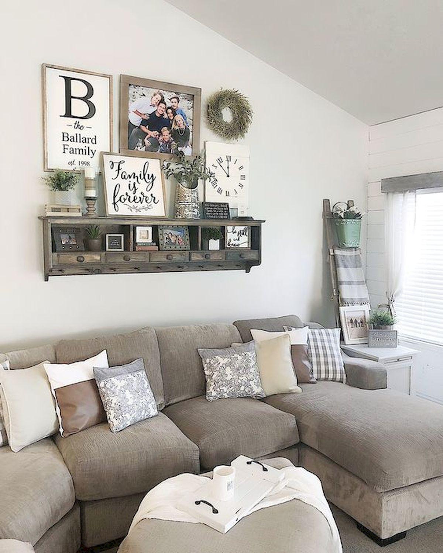75 Best Farmhouse Wall Decor Ideas For Living Room 1 Ideaboz Farm House Living Room Farmhouse Decor Living Room Family Room Walls