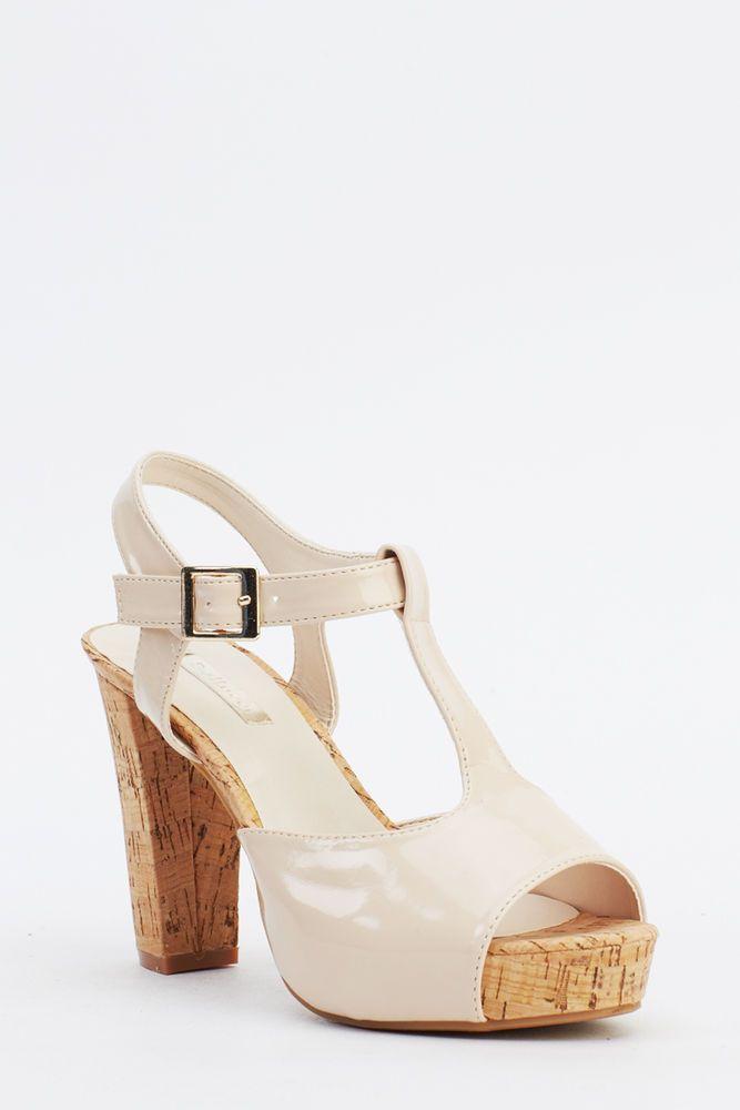 Stylish ladies Open Toe Ankle Strappy Slingback Blcok heel Sandals sizes UK 4567