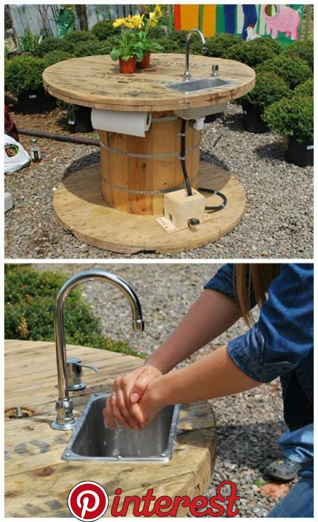 Cable spool beer drinking chair. Kabel haspel bier stoel. spoolchair - MyKingList.com #cablespooltables