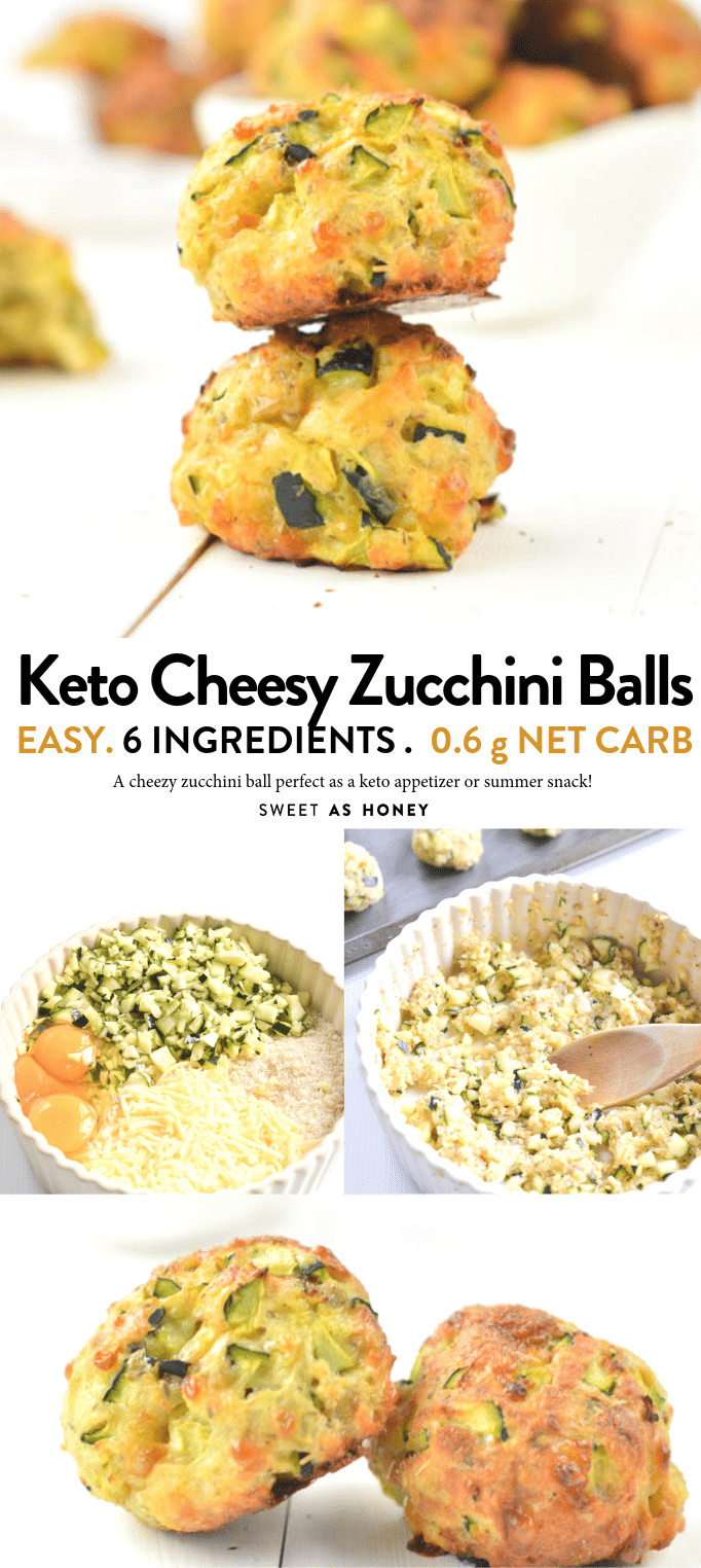 Cheesy Zucchini Balls easy Keto appetizers - Sweetashoney