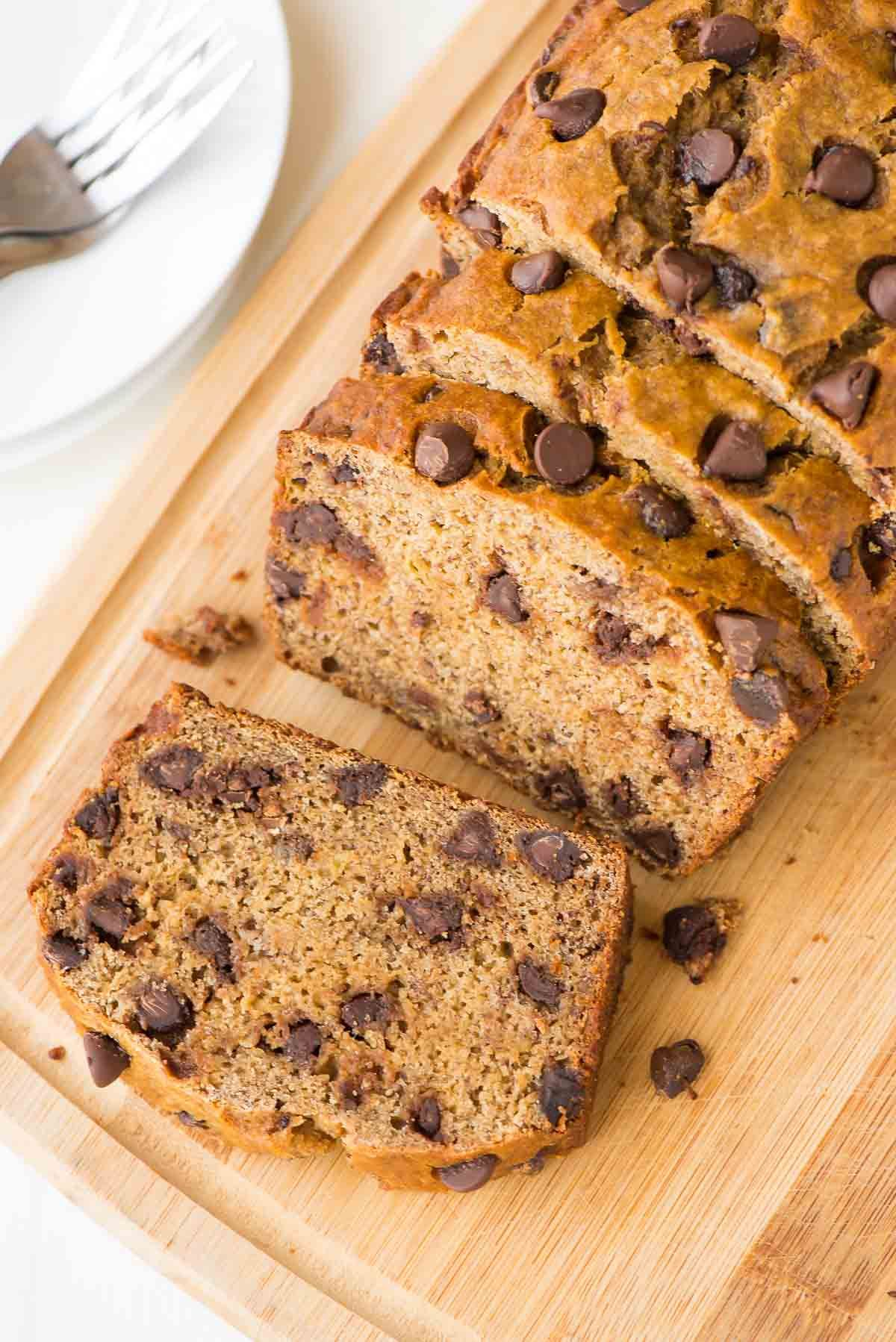 Almost fat free healthy banana bread with chocolate chips for a almost fat free healthy banana bread with chocolate chips for a little indulgence the forumfinder Choice Image