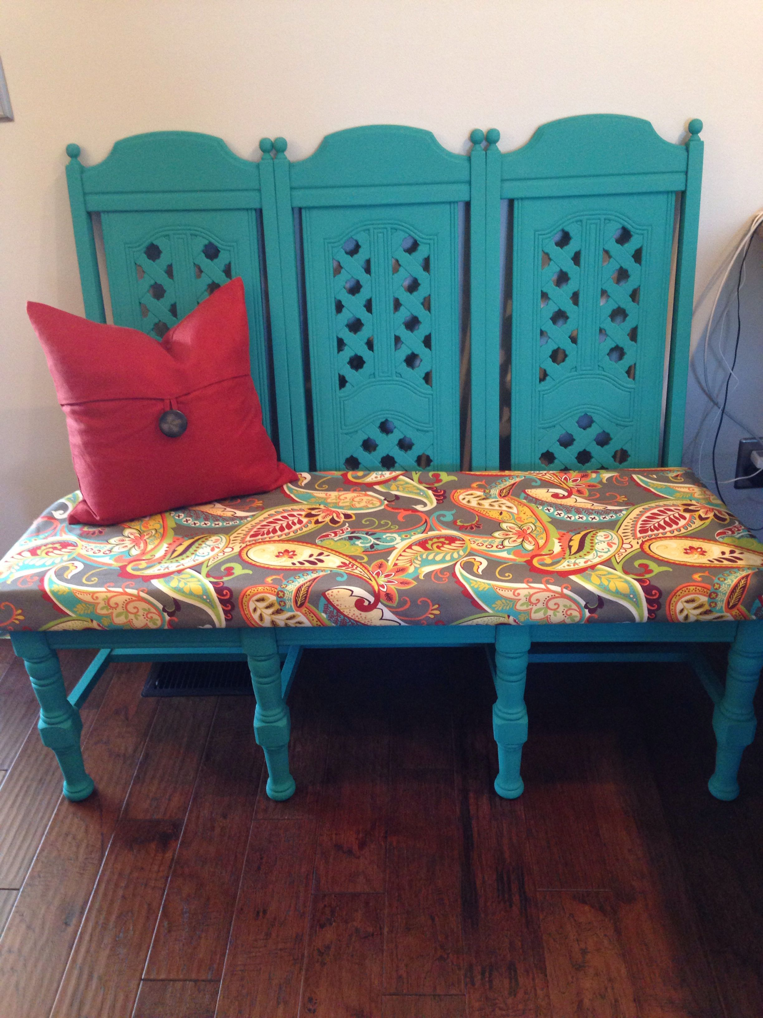 Fabulous My Husband And I Repurposed Dining Room Chairs I Painted Unemploymentrelief Wooden Chair Designs For Living Room Unemploymentrelieforg