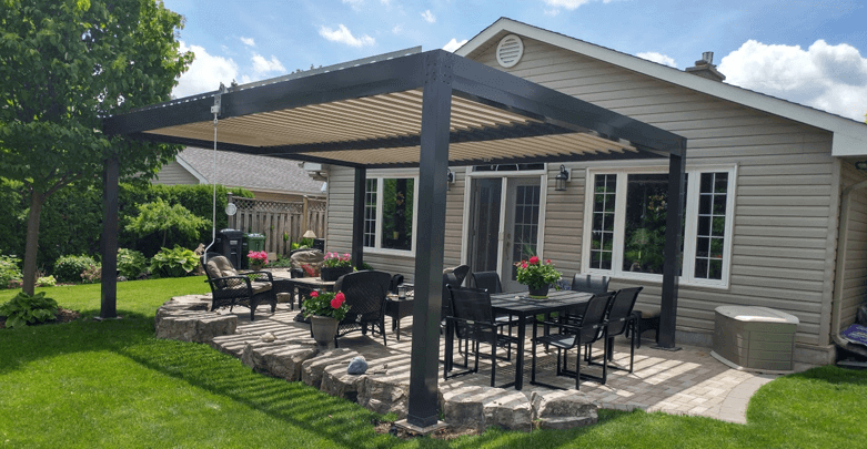 advanced opening and closing louvered roof system. (With