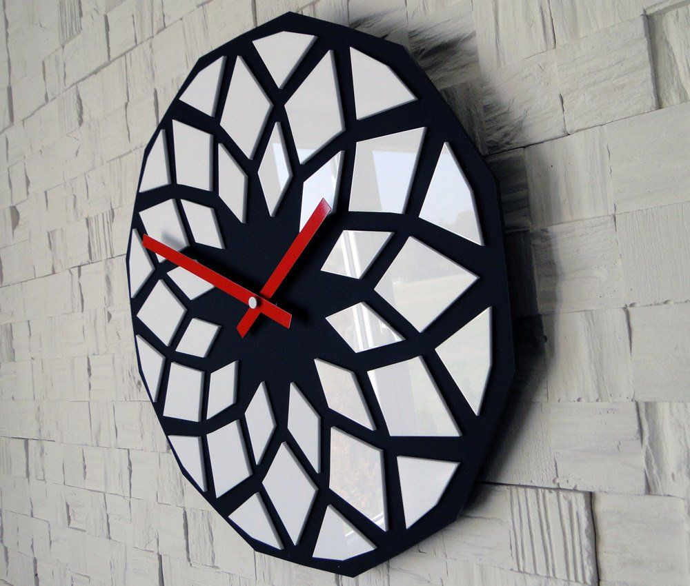 Lotus Wall Clock Contemporary 12 Birch Wood Contemporary Wall