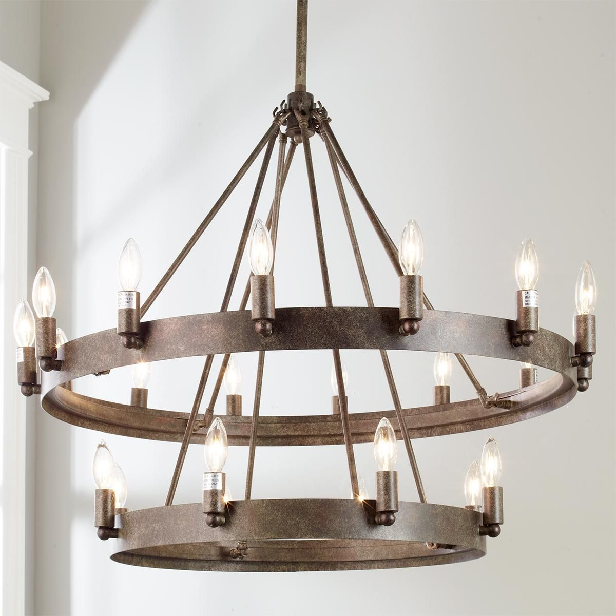 urban industrial double ring chandelier urban industrial urban industrial double ring chandelier