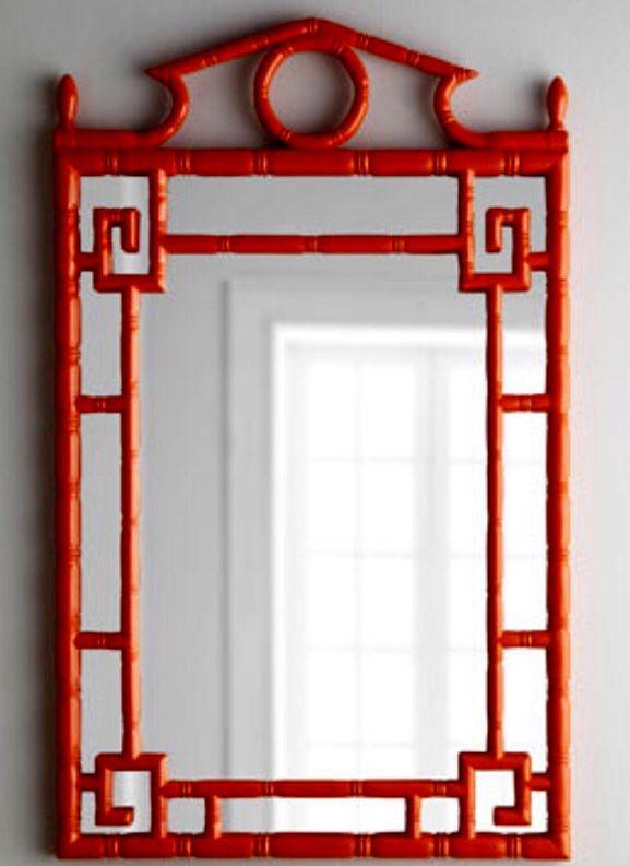 Orange-red mirror