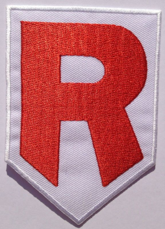 Team Rocket R Embroidered Iron On Patch Pokemon Collectors Badge