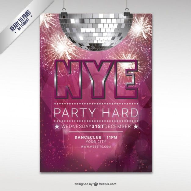 CMYK New Year eve party flyer template New Year 2015 Pinterest - new year brochure template