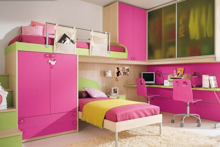 Muebles dormitorio doble ni as decoraci n pinterest for Recamaras para ninas adolescentes