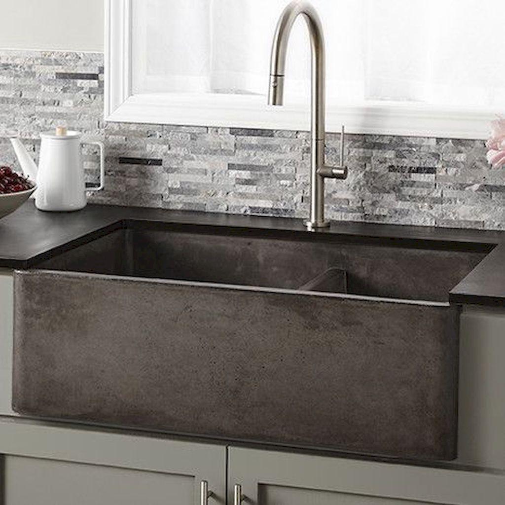 55 Best Rustic Kitchen Sink Farmhouse Style Ideas #Best ...