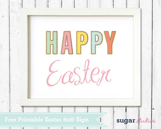 image about Happy Easter Sign Printable named Absolutely free Printable Obtain \