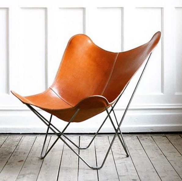 Charmant Leather Butterfly Chair   Pampa Mariposa | CUERO