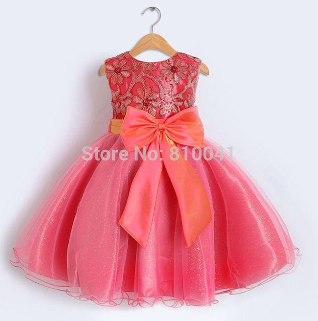 2014 Wedding Christmas Baby Vestido princesa bola vestido crianças ...