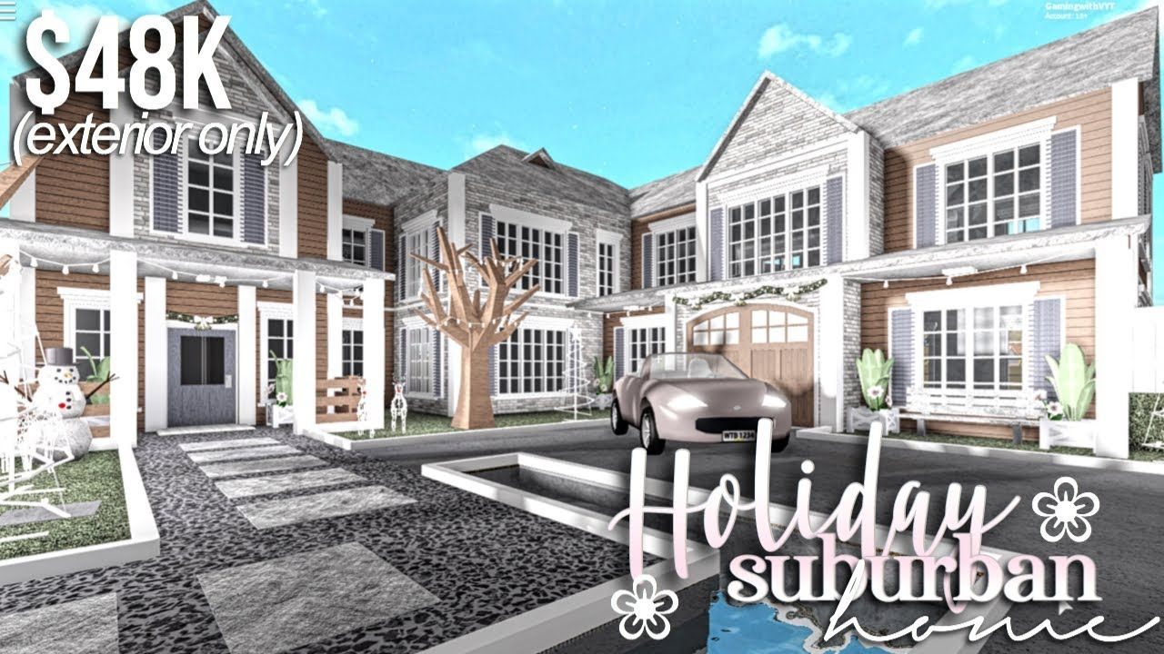 Holiday Subburban Home Part1 Exterior Roblox Bloxburg Gamingwithv Youtube House Plans Mansion Unique House Design Luxury House Plans