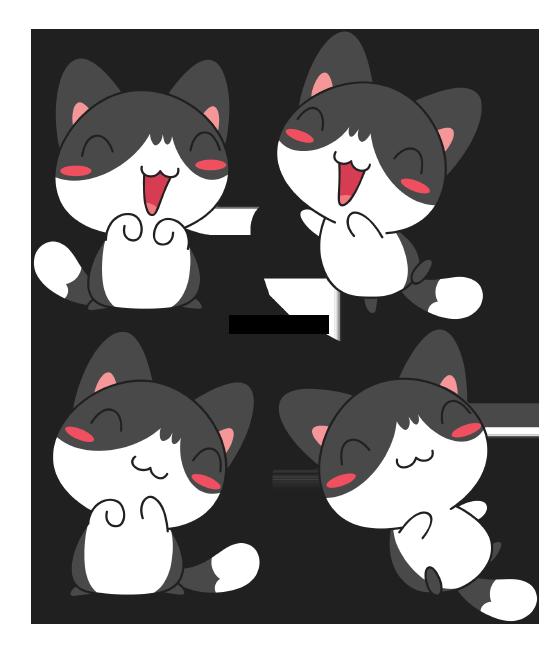 Black And White Kitty By Daieny Deviantart Com On Deviantart Cute Kawaii Drawings Kawaii Doodles Cartoon Clip Art