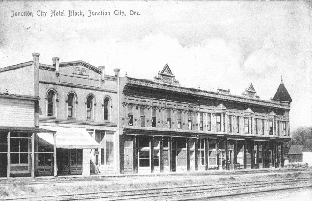 Junction city hotel block 1908 junction city oregon