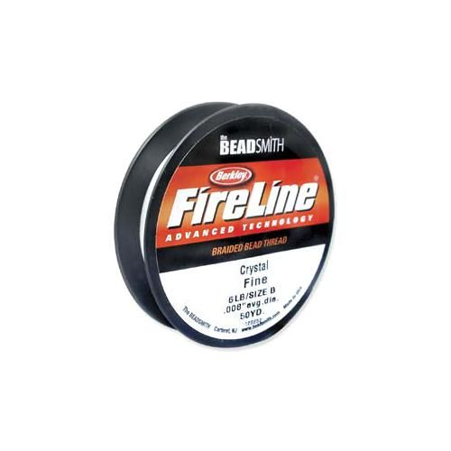 50 Yards FireLine Braided Beading Thread Crystal Clear 6lb Test and 0.006 Thick
