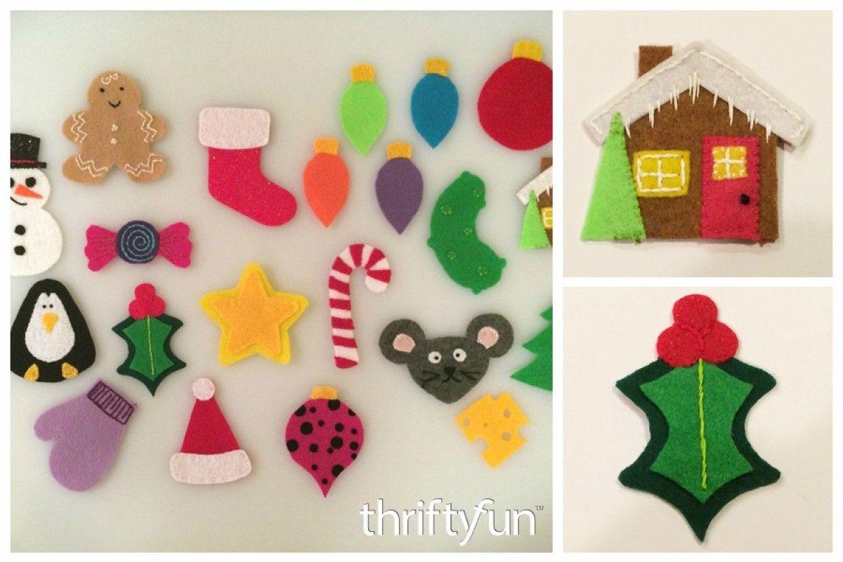 Making Ornaments for a Felt Christmas Tree #feltchristmastree