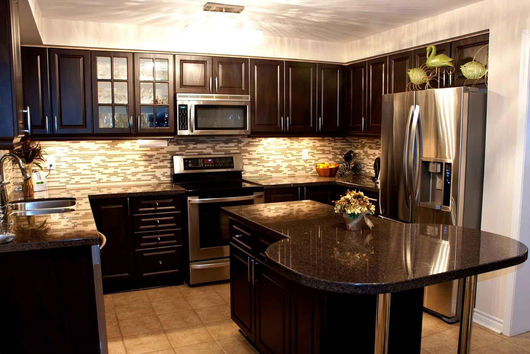 Dark Granite Countertops With Dark Cabinets Black Granite Countertops Dark Wood Kitchen Cabinets Brown Kitchen Cabinets