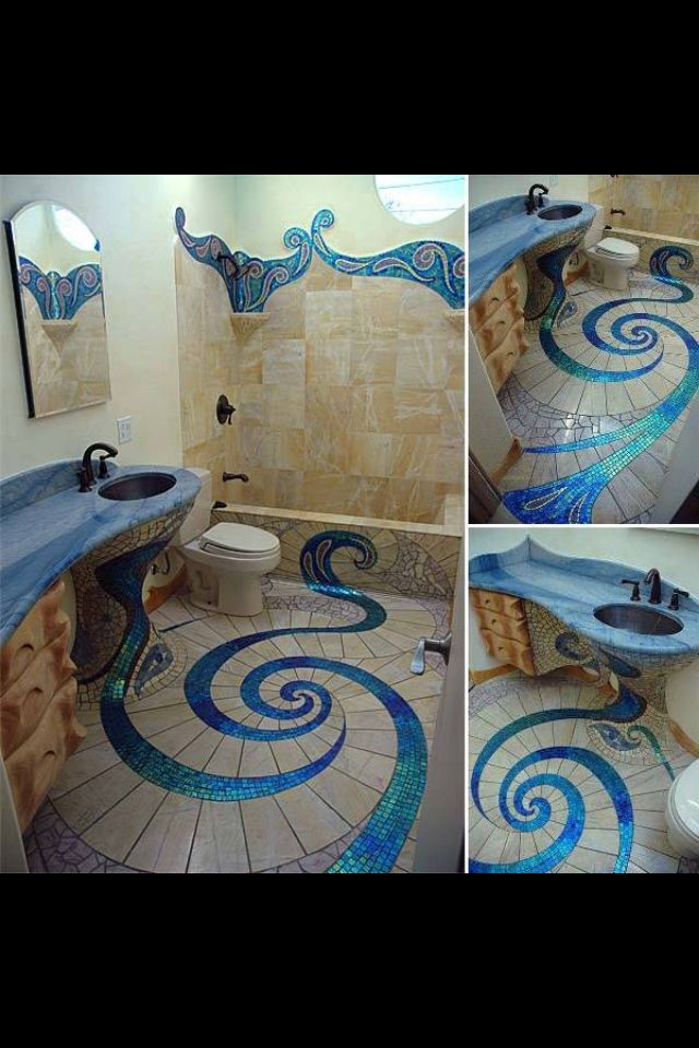 Crazy Tile Bathroom Desain Desain Rumah Rumah