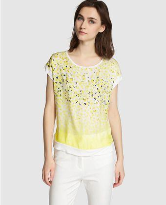 6301e5a4 Camiseta de mujer Roberto Verino con estampado delantero y manga ...