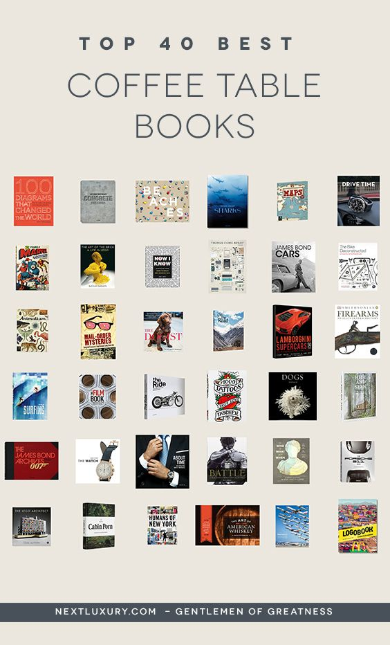 Top 40 Best Coffee Table Books For Men Cool Reading Material