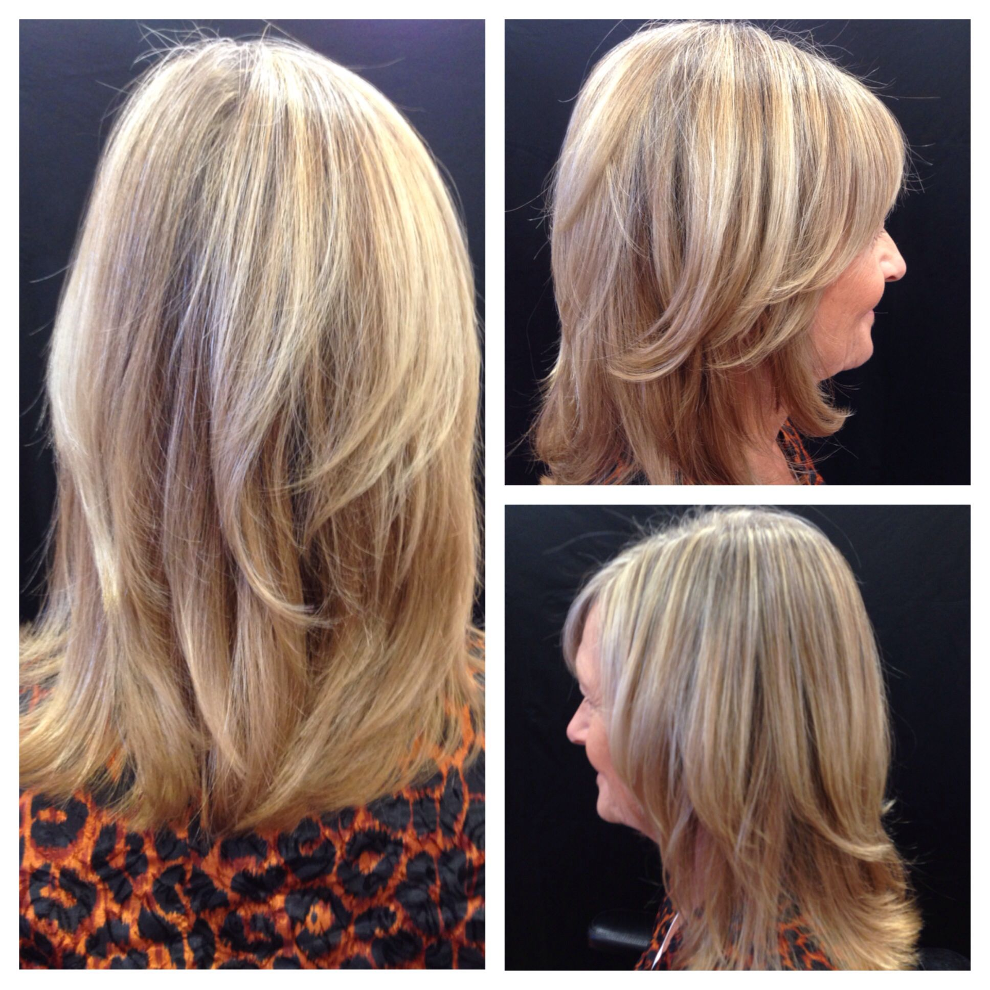 Cut and hair color by brianna salon cartier after color