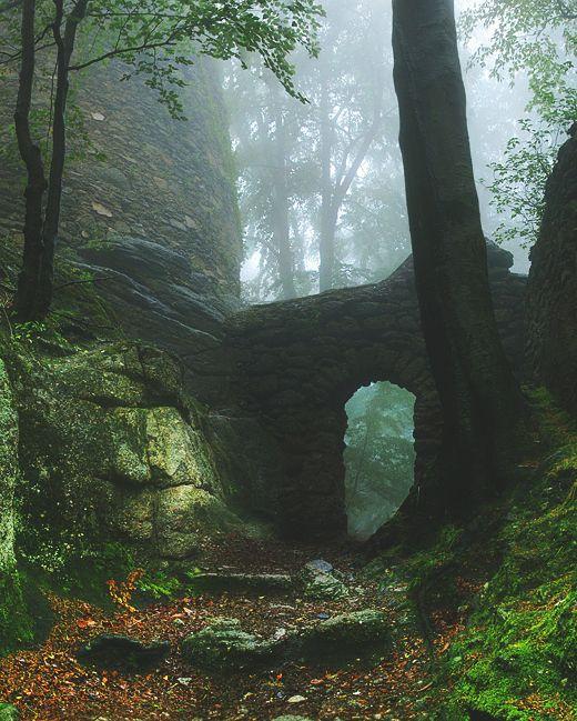 Forest Ruins Karkonosze Mountains Poland Travel Destinations In Europe Adventure Fantasy Landscape Landscape Nature Photography