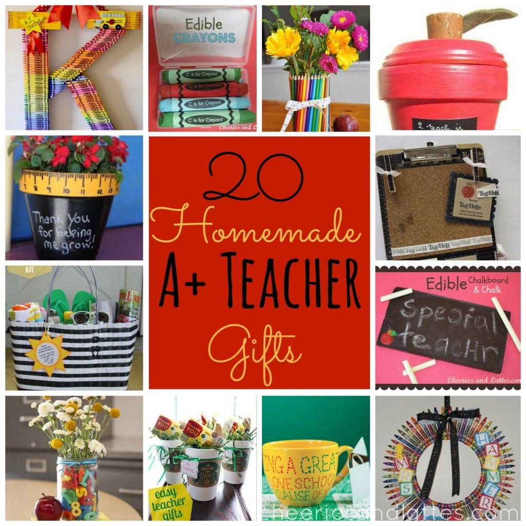 20 Homemade A+ Teacher Gifts #teacherappreciationgifts #teachergiftideas #giftsforteachers