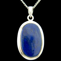 Lapis Lazuli & Silver Pendant - Oval 31mm http://www.crystalage.com/online_store/lapis-lazuli-and-silver-pendant-oval-31mm1.cfm