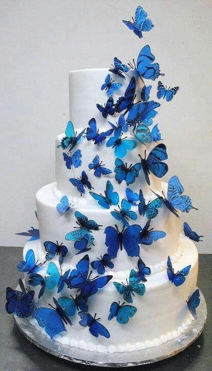 Pastel De Mariposas Para 15 Anos