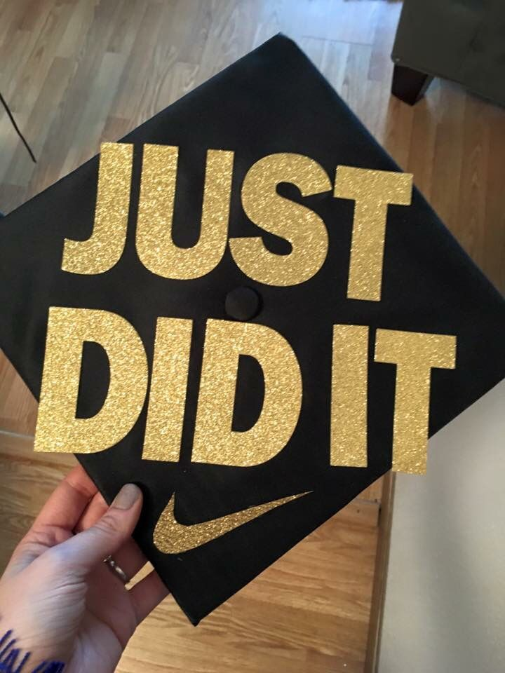 Nike graduation cap #justdidit #gold | Graduation cap ...