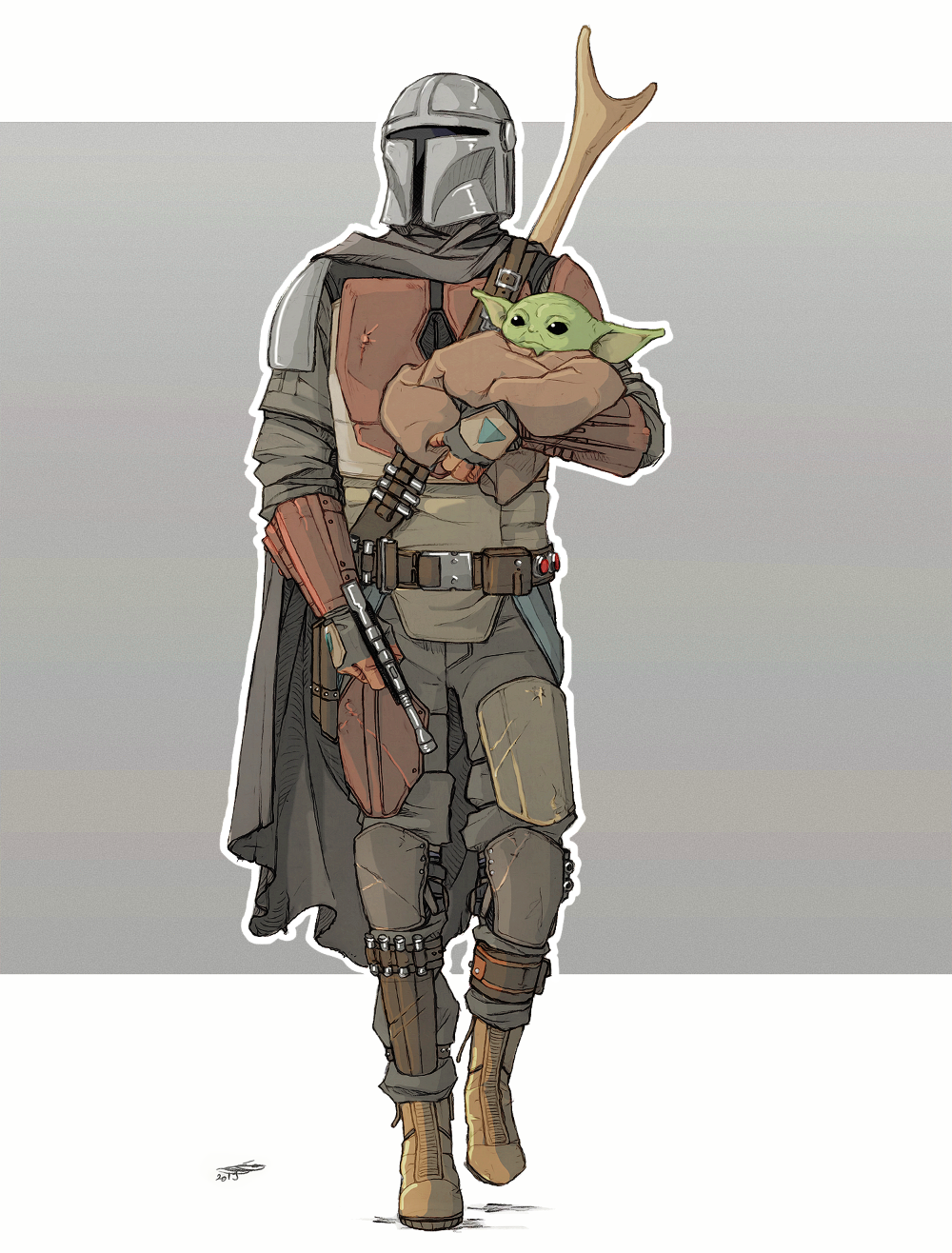 The Mandalorian By Nami64 On Deviantart Star Wars Art Star Wars Fandom Yoda Drawing