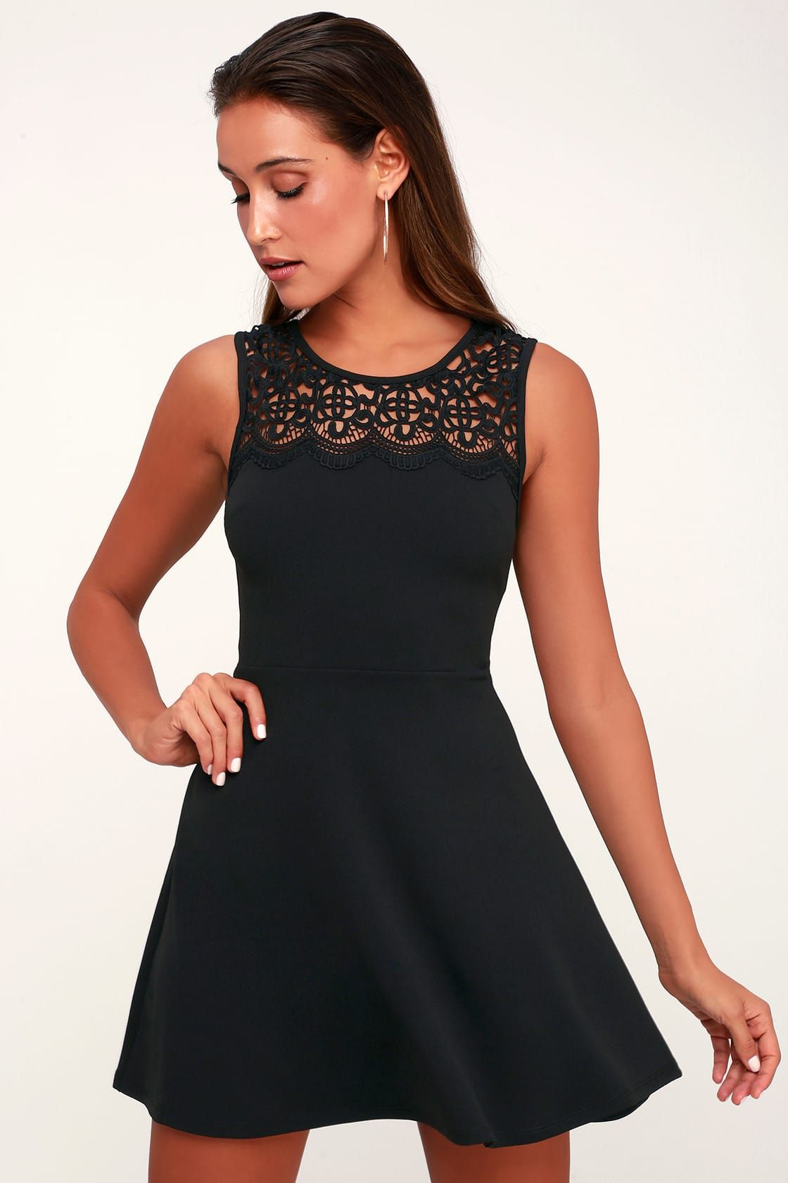 lulus black dress lace