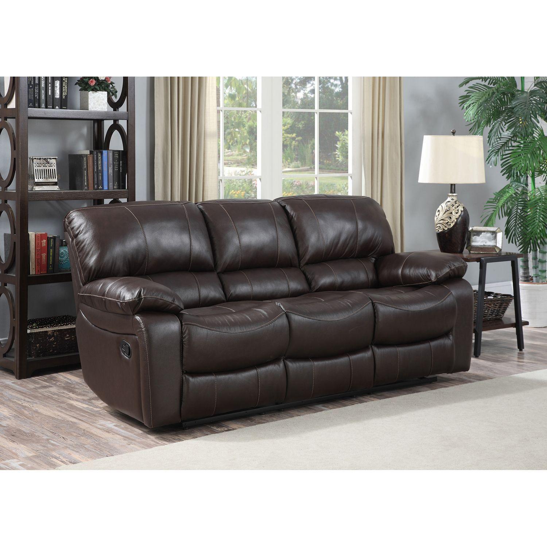 Attirant Redfield Leather Reclining Sofa