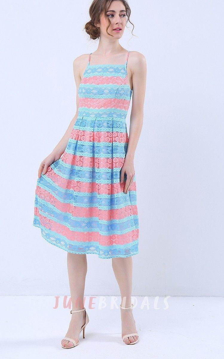 e111850c84 Spaghetti Straps Lace Midi Dress