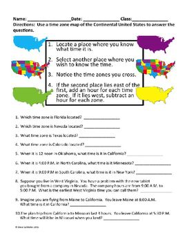 Time zone worksheet time zones pinterest time zones time zone worksheet ibookread Download