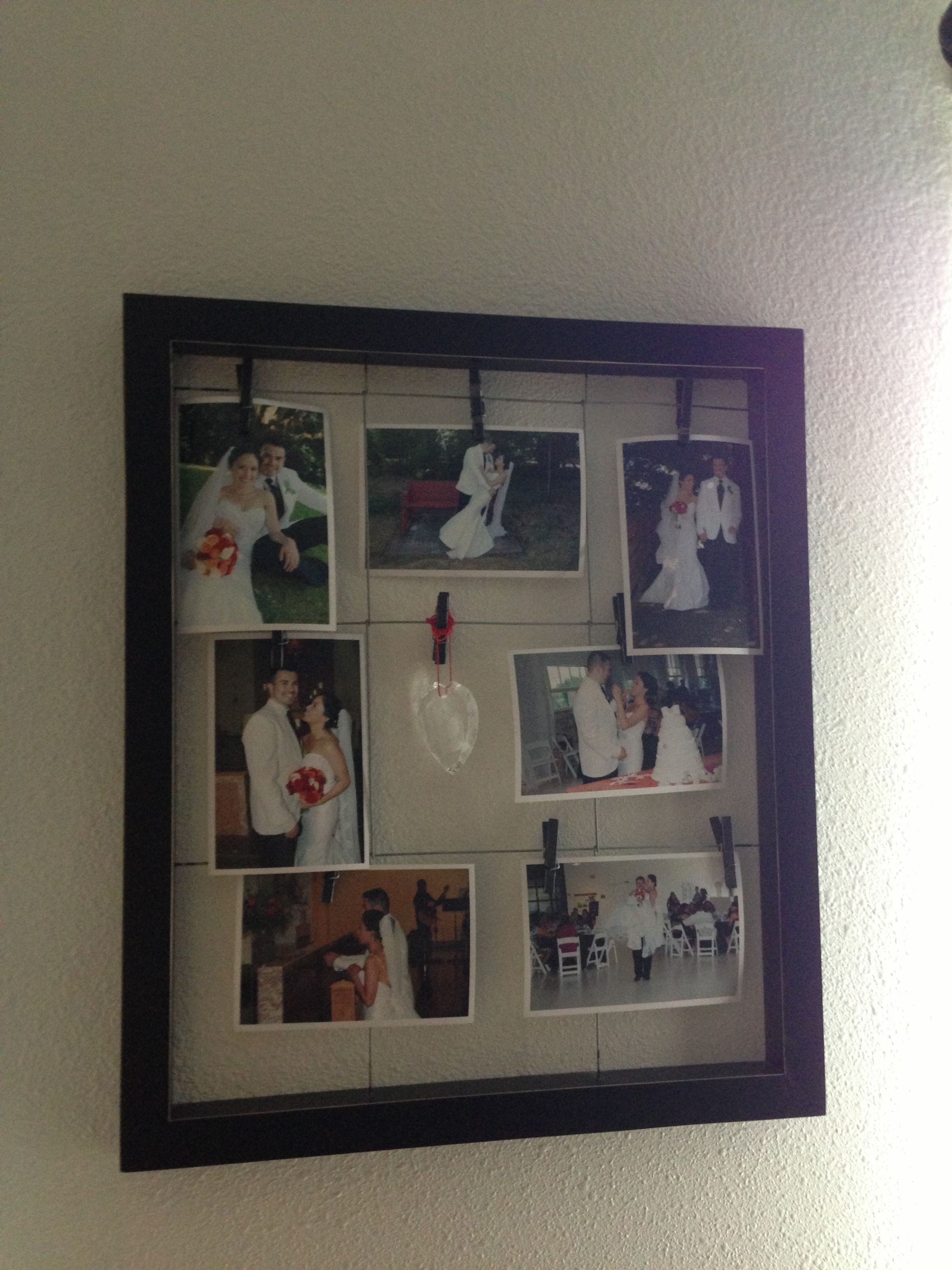 Love my frame!! #wedding pictures #heart ornament with see through ...