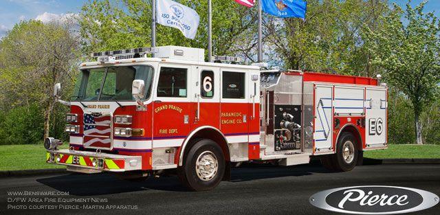 Dallas Fort Worth Pierce Arrow Xt Top Mount Pumper Fire Trucks