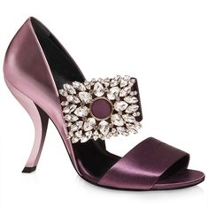 Virgule Sandals in Silk and Leather RVW320134005EZ0G03