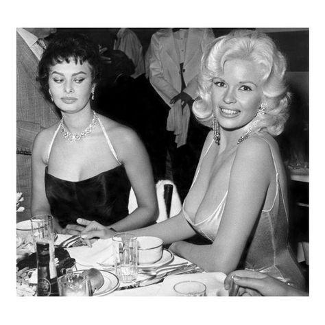 Jayne Mansfield & Sophia Loren Photograph by Joe S